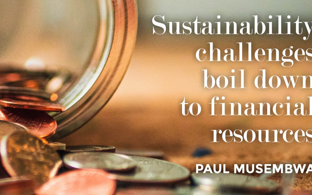 Sustainability challenges boil down to financial resources